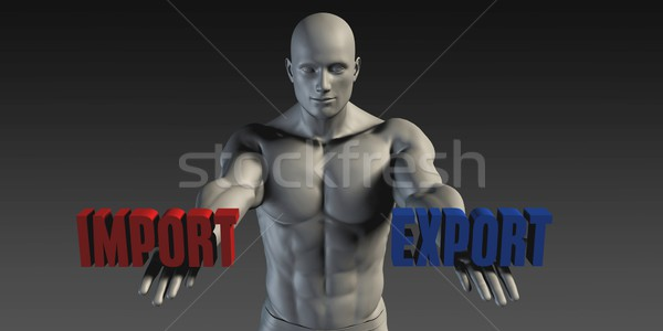 импортный экспорт выбора различный вера синий Сток-фото © kentoh