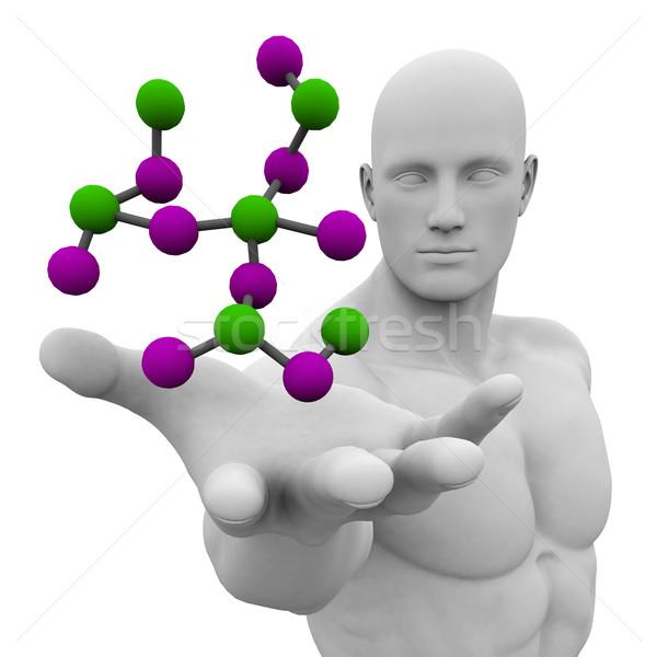 Foto stock: Estructura · 3D · resumen · médicos · tecnología · fondo