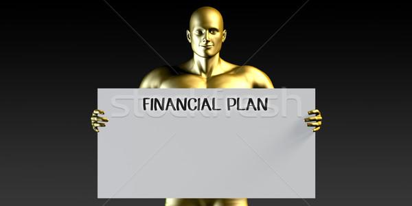 финансовых плана человека плакат плакат Сток-фото © kentoh