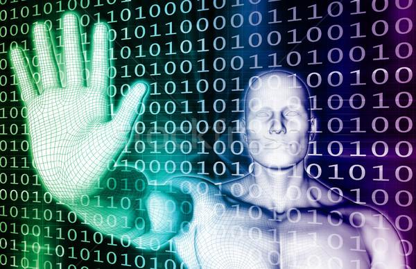 Digitale sicurezza minaccia internet comunicazione futuro Foto d'archivio © kentoh