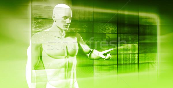 Futuriste résumé robotique art avenir machine Photo stock © kentoh