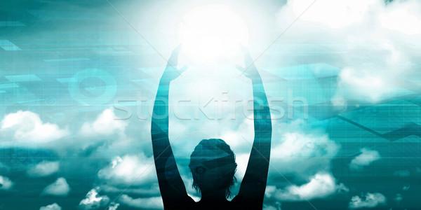 Nieuwe begin positief achtergrond bedrijf Stockfoto © kentoh