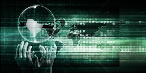Mondial distribution mains monde technologie succès Photo stock © kentoh