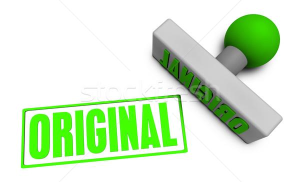 Originale tampon papier 3D propre Photo stock © kentoh