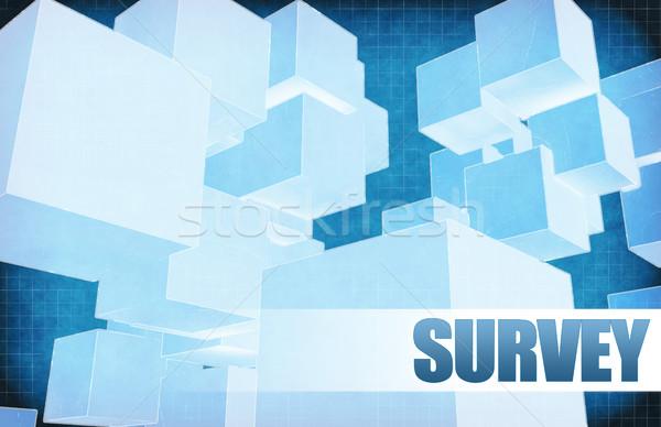 Felmérés futurisztikus absztrakt bemutató csúszda terv Stock fotó © kentoh