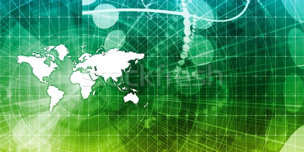 Stockfoto: Globale · handel · business · kaart · kunst · geld