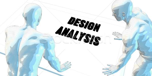 Design analyse discussion réunion d'affaires art réunion Photo stock © kentoh