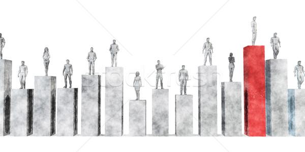 Negócio pioneiro mercado indústria líder executivo Foto stock © kentoh