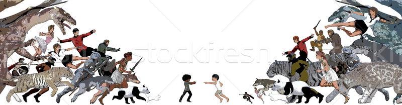 脱出 現実 子供 夢 アップ ストックフォト © kentoh