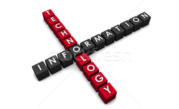 Technologia informacyjna 3D bloków tle sieci korporacyjnych Zdjęcia stock © kentoh