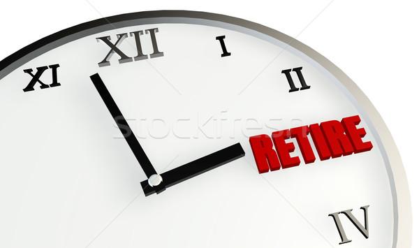 Nyugdíj idő hamarosan jön tervez óra dolgozik Stock fotó © kentoh
