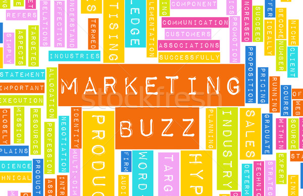 Marketing Buzz Stock photo © kentoh