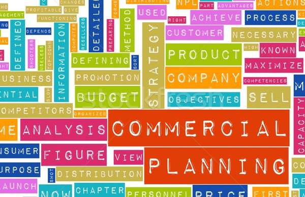 Comercial planejamento negócio companhia corporativo mercado Foto stock © kentoh