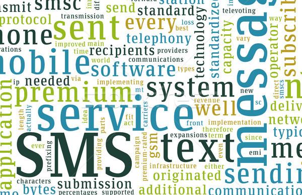 Sms mobil szöveg rövid üzenet szolgáltatás Stock fotó © kentoh