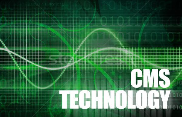 Cms tecnologia conteúdo gestão computador fundo Foto stock © kentoh