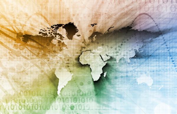 Globális üzlet nemzetközi vállalati textúra térkép háttér Stock fotó © kentoh