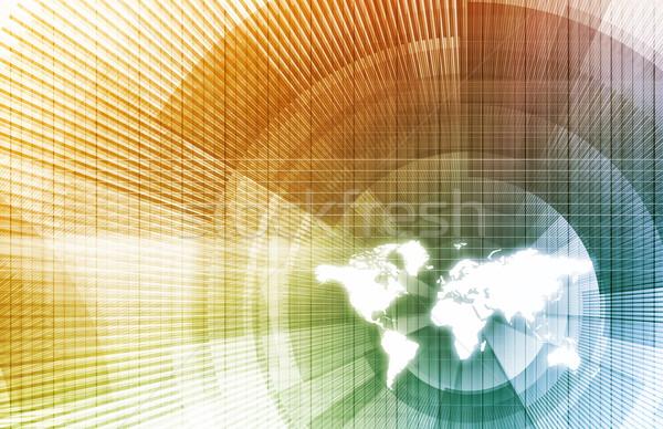 Wereldwijde business netwerk moderne lijnen Stockfoto © kentoh