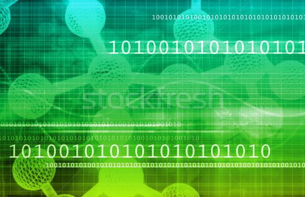Genetik teknoloji araştırma bilim sanat arka plan Stok fotoğraf © kentoh