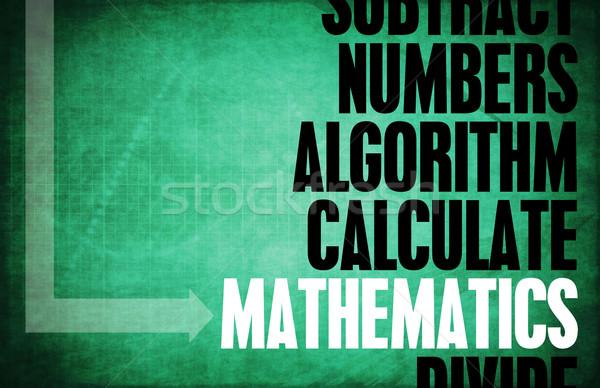 Matematik aritmetik arka plan eğitim anahtar Retro Stok fotoğraf © kentoh