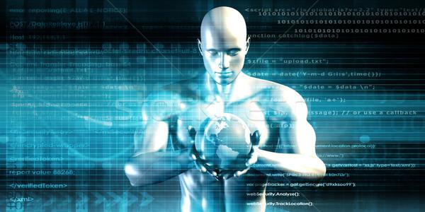 будущем технологий новых Palm стороны интернет Сток-фото © kentoh