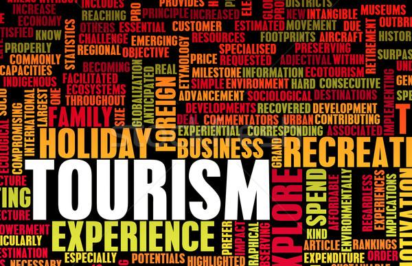 Turizmus ipar turista külföldi ünnepek ünnep Stock fotó © kentoh