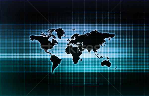 In tutto il mondo sostegno rete mappa sfondo Foto d'archivio © kentoh
