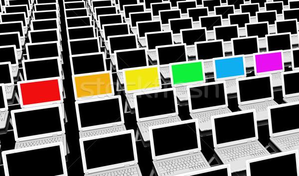 Verschillend business technologie netwerk industrie Stockfoto © kentoh