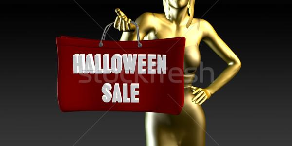 Halloween vendita vendite evento speciale nero sorridere Foto d'archivio © kentoh