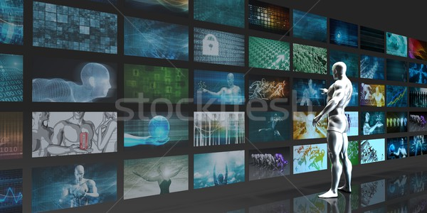 Multimedia Tracking Stock photo © kentoh