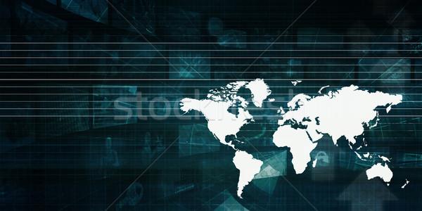 Globalização negócios internacionais abstrato arte mundo tecnologia Foto stock © kentoh