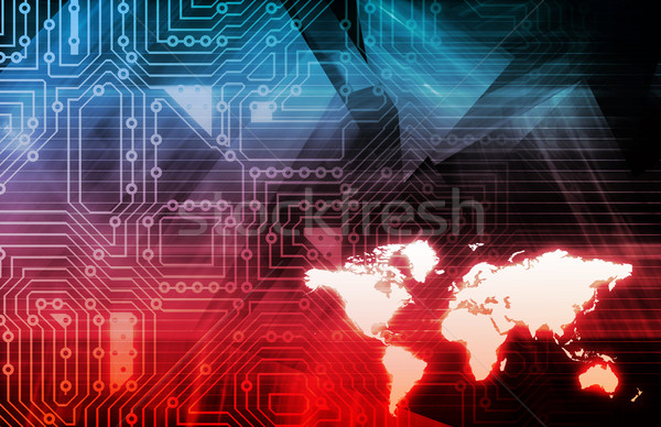 Ruchliwość technologii telefon tle sieci internetowych Zdjęcia stock © kentoh