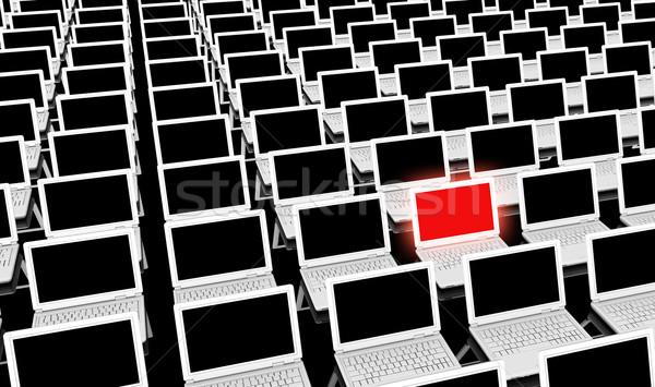 Bilgisayar eğitim öğrenme ofis okul teknoloji Stok fotoğraf © kentoh
