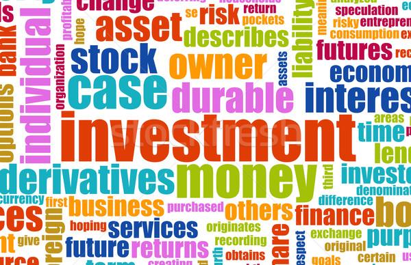 Zdjęcia stock: Inwestycja · plan · terminologia · tle · przemysłu · przyszłości