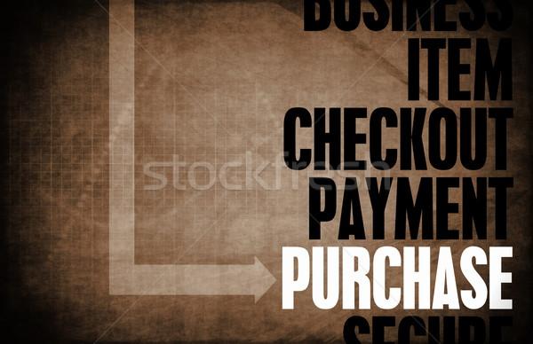 Acquisto nucleo principi business retro digitale Foto d'archivio © kentoh