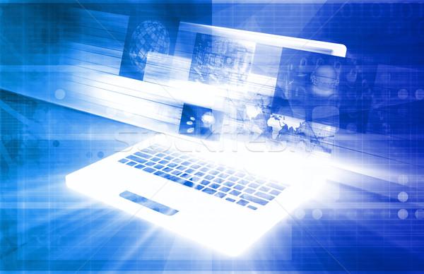 Teknoloji gizlilik çevrimiçi dijital sanat Stok fotoğraf © kentoh