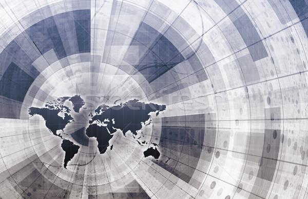 Leveren kanaal logistiek keten digitale gegevens Stockfoto © kentoh