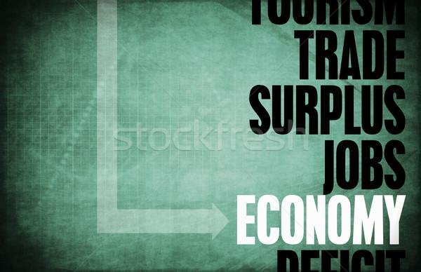 Economia núcleo princípios negócio azul retro Foto stock © kentoh