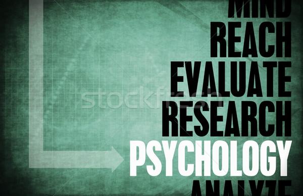 Psychologia kluczowych koncepcje naukowy badania tekstury Zdjęcia stock © kentoh