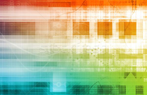 Informatika adat hálózat háttér vállalati cég Stock fotó © kentoh