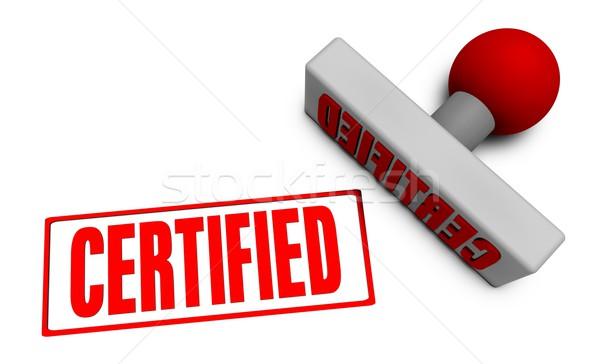 Certifié tampon papier 3D société Photo stock © kentoh
