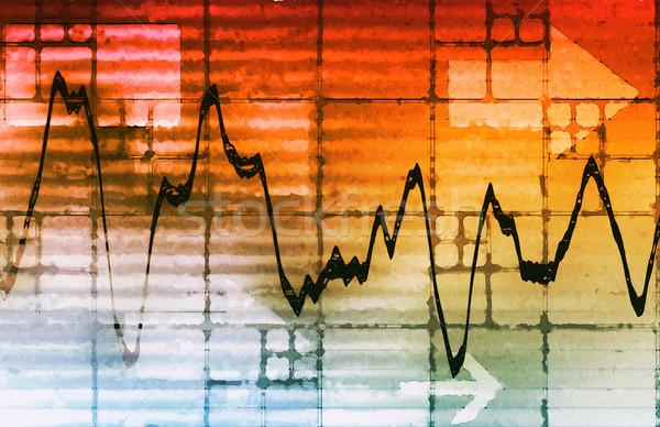 экономический развития анализ прогноз диаграммы деньги Сток-фото © kentoh