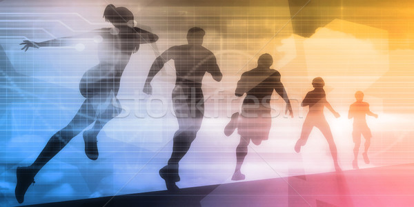 Sports Illustration Stock photo © kentoh