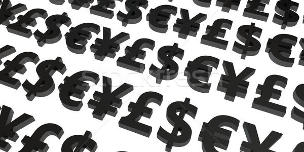Valuta beruházás pár pénznemek háttér cég Stock fotó © kentoh