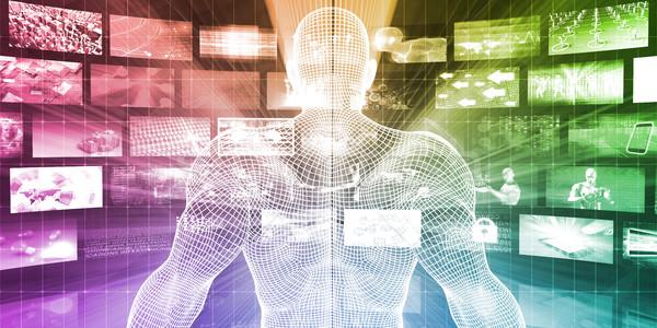 Veiligheid netwerk admin gegevens technologie achtergrond Stockfoto © kentoh