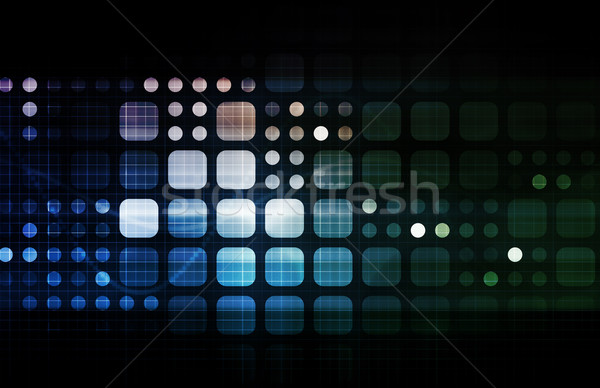 Stockfoto: Futuristische · technologie · volgende · generatie · kunst · abstract