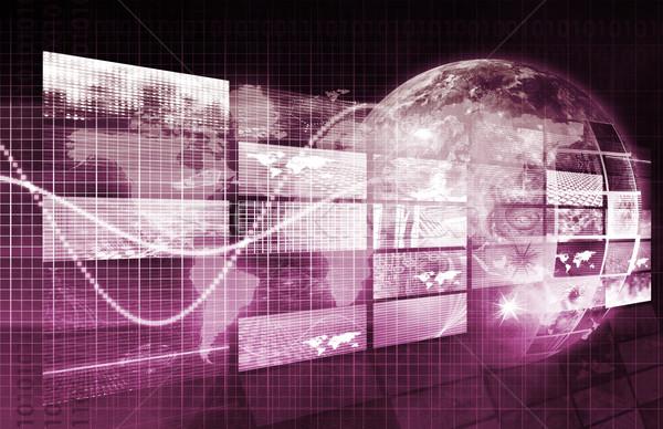 Biztonság hálózat ellenőrzés adat háló internet Stock fotó © kentoh