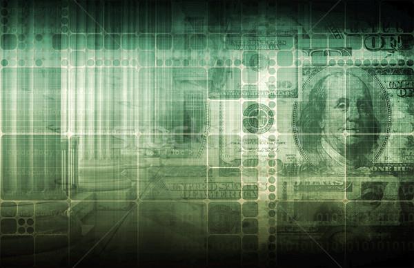 Stok fotoğraf: Yatırım · finansal · arka · plan · pazar · gelecek · öğrenme
