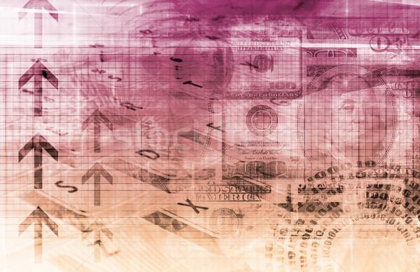Pénzügy táblázat tech grafikon művészet háttér Stock fotó © kentoh