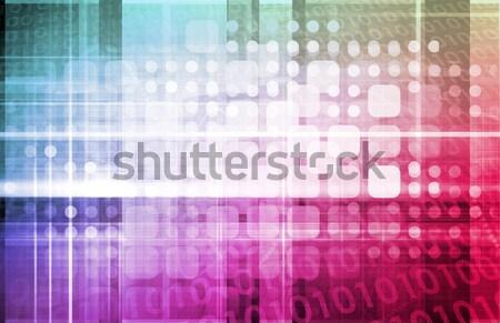 Foto stock: Negocios · integración · modelo · fondo · información · ingeniería
