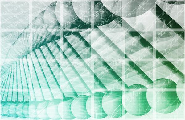 Wetenschappelijk onderzoek genetisch dna wetenschap medische gezondheid Stockfoto © kentoh